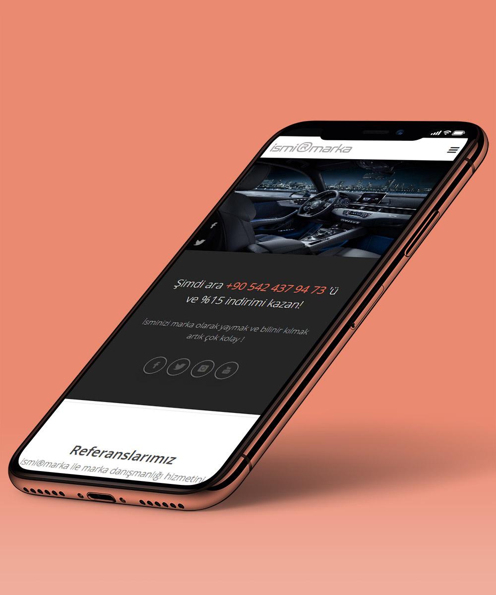 Otomotivciler için mobil uyumlu web sitesi