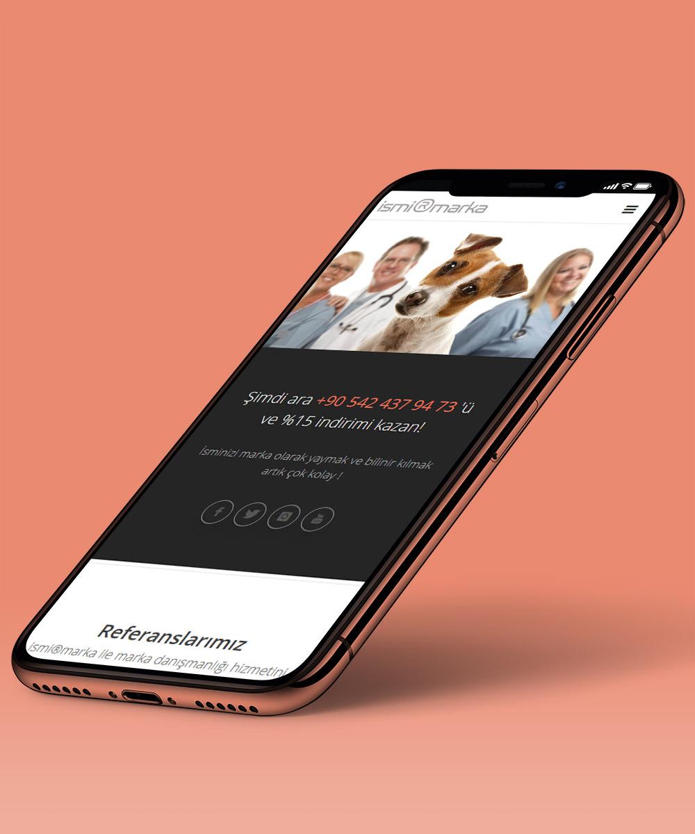 Veteriner mobil uyumlu web sitesi